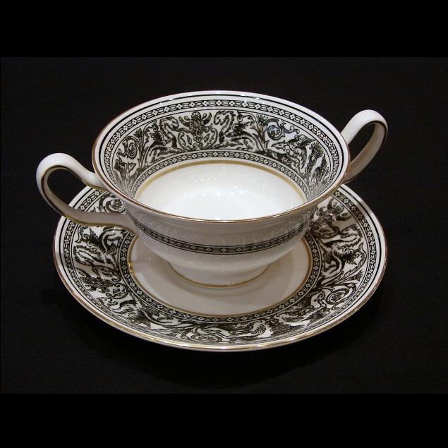Wedgwood florentineblack suppentasse mit untertasse for Kochen und design dormagen
