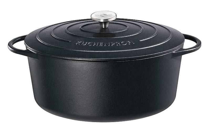 kuechenprofi Bräter Bratentopf Gänsebräter Gusseisen oval 40cm schwarz Provence 04 0200 10 40