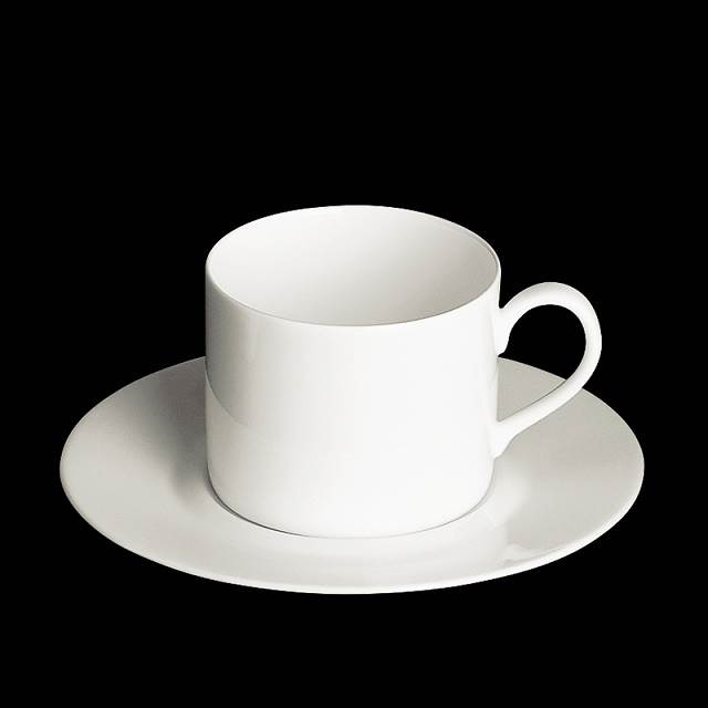 dibbern fine bone china weiss tasse zylindr 0 35 ltr mit flacher unt. Black Bedroom Furniture Sets. Home Design Ideas