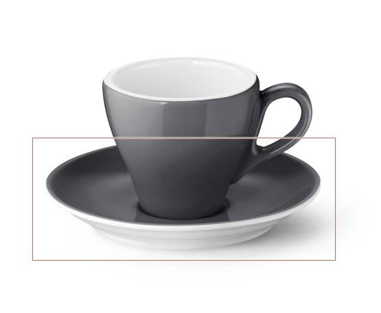dibbern solid color espresso untertasse classico anthrazit. Black Bedroom Furniture Sets. Home Design Ideas