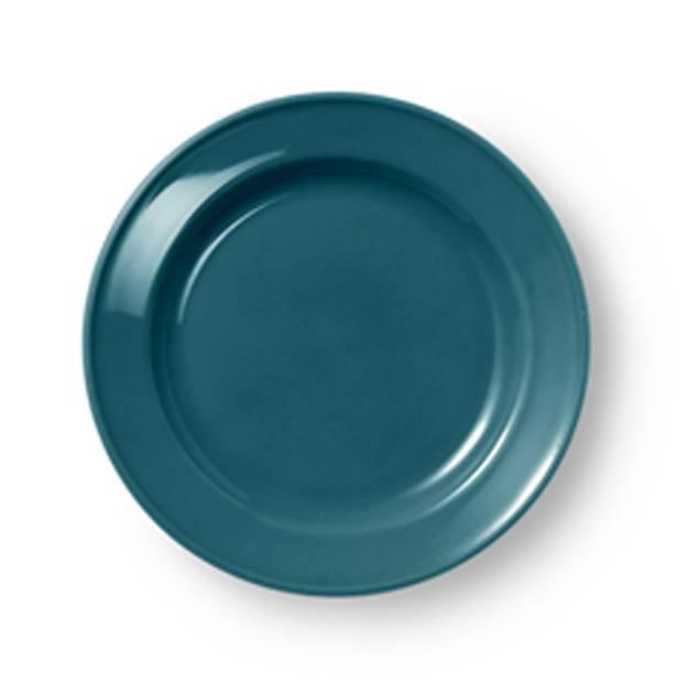 dibbern solid color teller flach 19 cm volldekor petrol. Black Bedroom Furniture Sets. Home Design Ideas