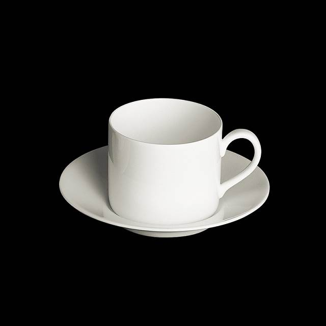 dibbern fine bone china weiss tasse zylindr 0 25 ltr mit untertasse. Black Bedroom Furniture Sets. Home Design Ideas