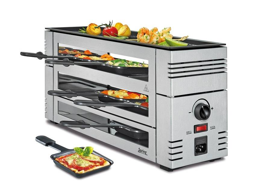 Pizza Raclette 6 silber
