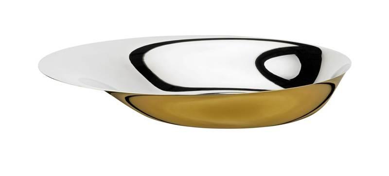 Foster Schale 36 cm stahl-golden
