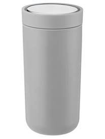 stelton To Go Click Isobecher 0,4 ltr soft hellgrau