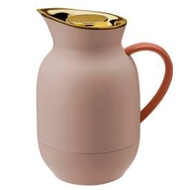 stelton Amphora Isolierkanne Thermoskanne Kaffee 1 ltr soft peach