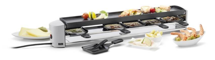 Cheeseboard SIX Raclette silber 0009.72