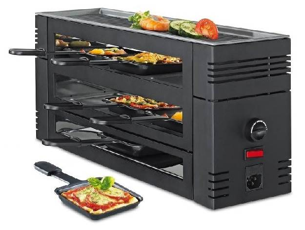 Spring Pizza Raclette 6 schwarz 33 6771 00 02