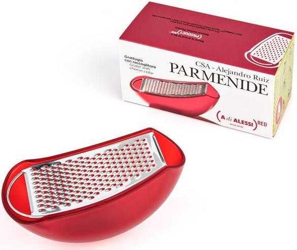 Alessi Parmenide Parmesanreibe Product Red AARU01 RE