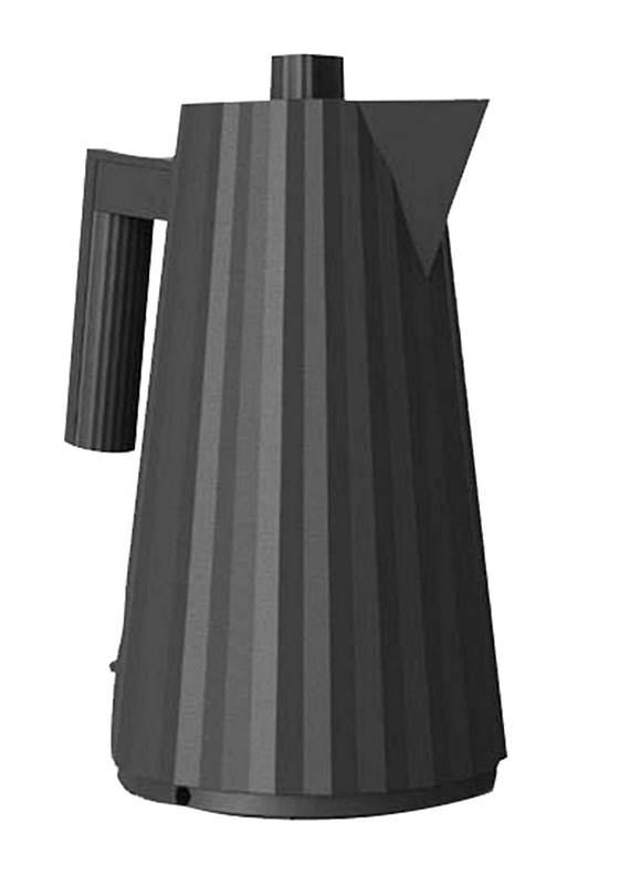 Alessi elektrischer Wasserkocher Plisse schwarz MDL06 B