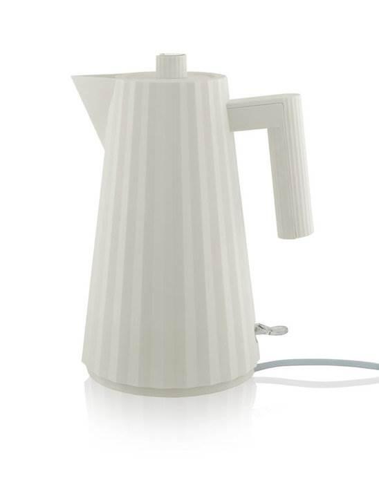 Alessi elektrischer Wasserkocher Plisse weiss MDL06