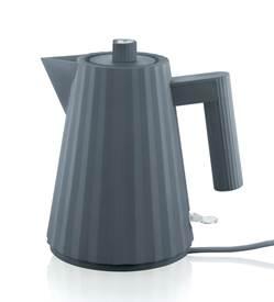 alessi elektrischer Wasserkocher Plisse grau klein MDL06/1 G